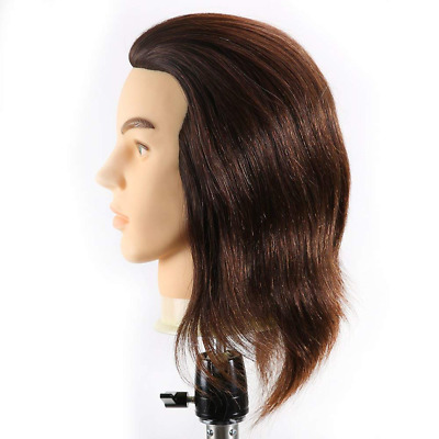 Hairealm Man Training Heads Hairdressing 100% Real Human Mannequin New