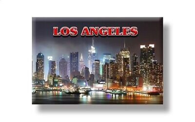 Los Angeles Skyline Ansicht Foto Magnet Amerika USA Souvenir Fridge