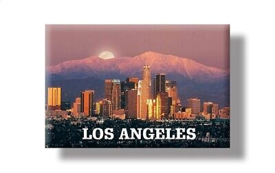Los Angeles Skyline mit Bergen Foto Magnet Amerika USA Souvenir Fridge