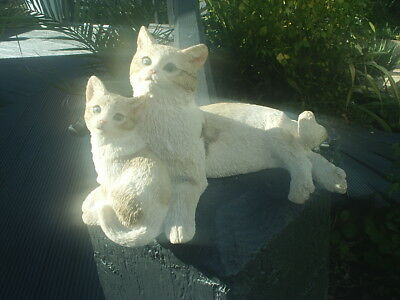 SHERRATT & SIMPSON CAT Figurine KITTENS Lying Down Excellent Condition