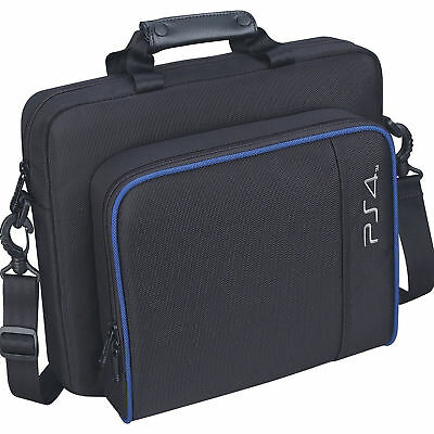 Black Oxford Carry Travel Case Shoulder Bag For PS4/Pro/Slim Game Consoles& Acce
