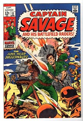 Captain Savage and His Battlefield Raiders #6, Very Fine Condition