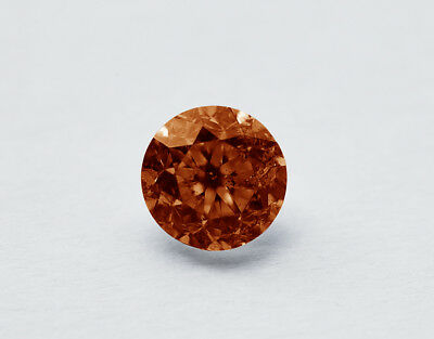 Lose natürliche(clarity enhanced) Diamant Rund 0.02 ct VVS1/Orange Intense