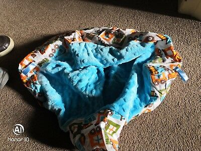 Bumbo Taggy Seat Cover. Boys. Used