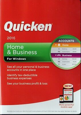 Quicken Home & Business 2016 Personal Finance & Budgeting