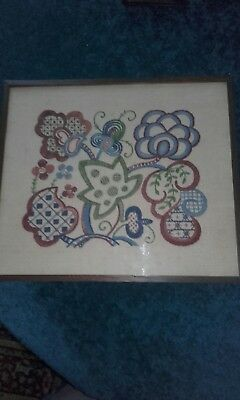 Arts And Crafts Needle Work Sampler