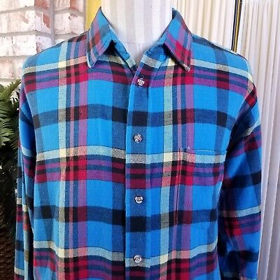 Vintage Flannel Shirt Men's XL Rugged Terrain