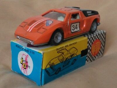 Miniatura 1:43 Nacoral Intercars Chiqui Cars Metal 111 Mercedes C111. Spain.