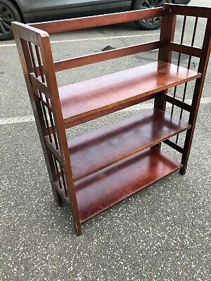 small, 30s folding bookcase, dark wood veneer