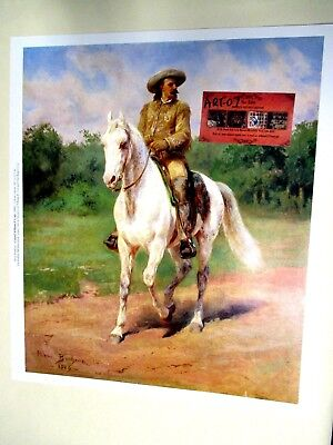 W. F. Cody on White Horse by BONHEUR Print Buffalo Bill Historical Center Museum
