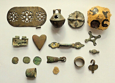 A Collection Of Medieval And Later Metal Detecting Finds Coins & Antiquities