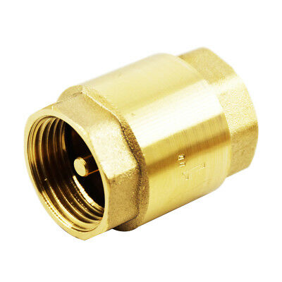 1 Pc Inline Anti Back Flow Check Valve Thickened Brass Fitting for Air Oil Water