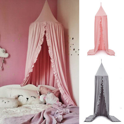 Kids Baby Ruffle Canopy Bedcover Mosquito Net Curtain Bedding play teepee /Tent