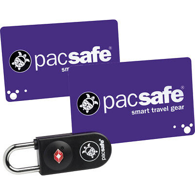 PacSafe Prosafe 750 TSA-Accepted Wallet-Sized Key-Card Combination Lock - Black