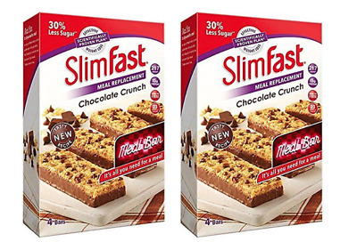 SlimFast Chocolate Crunch Bar, Meal Replacement Weight Loss Diet  / 8 x 60g bars