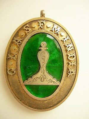 A Vintage Silver Masonic Breast Jewel, Scottish Constitution Presented In 1919
