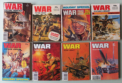 8 Vintage War Picture Library Monthly / Holiday Special Comics