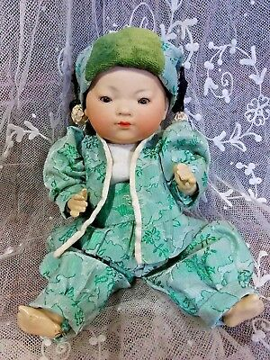 Wonderful 10 Inch Antique A M Ellar Oriental Baby