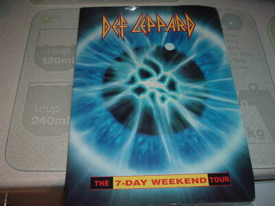 Def Leppard 7 Day Weekend tour programme