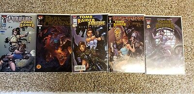 Tomb Raider 6 rare comics with Certificate lot of 14.