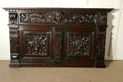A Superbly Carved Early 19th Century French Oak Panel