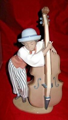 LLADRO JAZZ BASS BLACK LEGACY Figurine 5834 +Box ( from set of 6)