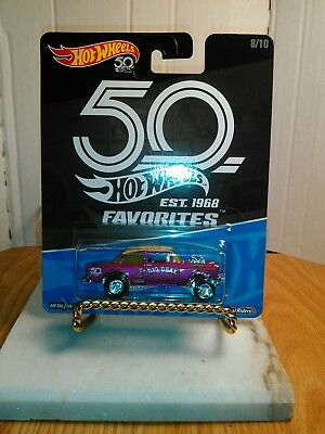 HOT WHEELS 50th FAVORITES 55 BEL AIR GASSER B CASE IN HAND, Ships tomorrow