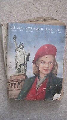 Sears Roebuck and Co Fall - Winter Catalog 1943-1944 Nice Condition!