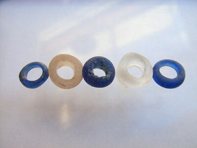 5 Ancient Celtic Glass Beads Celts VERY RARE!  TOP !!