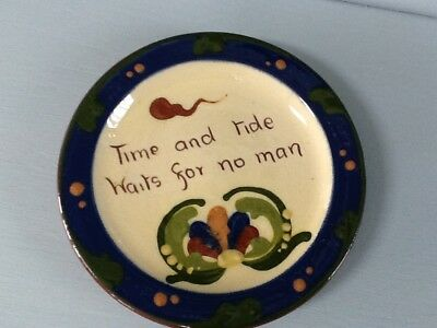 """VINTAGE DEVON/TORQUAY MOTTO WARE """"Time and Tide Waits For No Man"""""""
