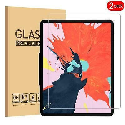 (2 Pack) iPad Pro 12.9-Inch 2018 Tempered Screen Protector for New iPad Pro 12.9