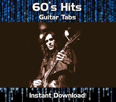 60's ROCK GUITAR HITS TAB TABLATURE DOWNLOAD SOFTWARE TUITION