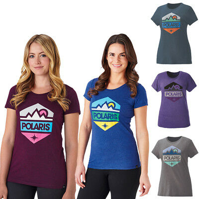 Polaris Women's Hex Classic Blend Athletic Fitted Tee Short Sleeve T-Shirt OEM