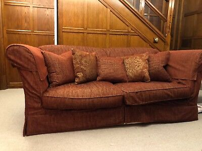 Victorian Style, HighBacked Sofa with Scatter Cushions