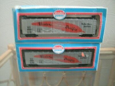 MODEL POWER , WESTERN PACIFIC (W.P.20802) BOX CARS (x 2), Nos.9031,HO SCALE,VGC.