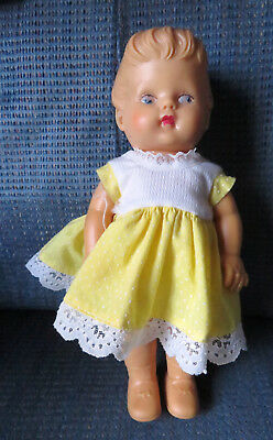 Vintage Eegee doll baby 10 inches  soft rubber/vinyl