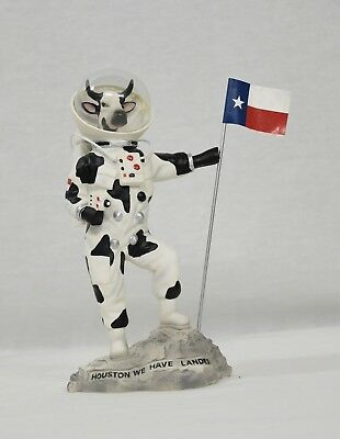 "Cow Parade Moonwalking Cow ""Houston We Have Landed"" Figurine NASA Moon Space 8"""