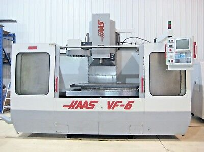 HAAS VF-6 CNC Vertical Machining Center Mill, 4 Axis, Cat 40 Taper, 7500 GearBox