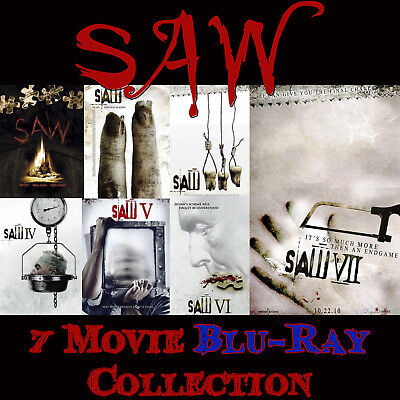 SAW Blu-Ray 7- Film Unrated Collection • *NEW (No Digital Copy Included) Sealed