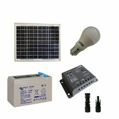 Solar Lighting Kit LED 10W 12V SR for Interior Photovoltaics AGM Battery 8Ah
