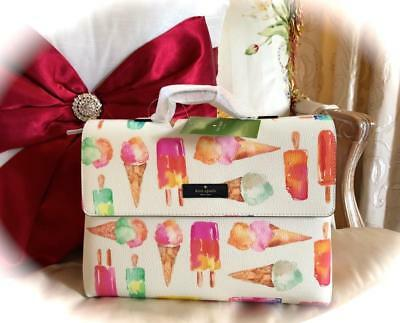 Nwt Kate Spade New York *Flavor Of The Month* Ice Cream🍦Cosmetics Bag!* Rare!