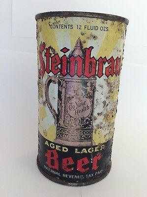 Steinbrau Beer flat top can St. Claire Brewing San Jose CA