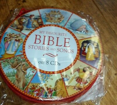 """Children's 'My Favourite Bible Stories and Songs"""". 8 CDs in zipped case"""