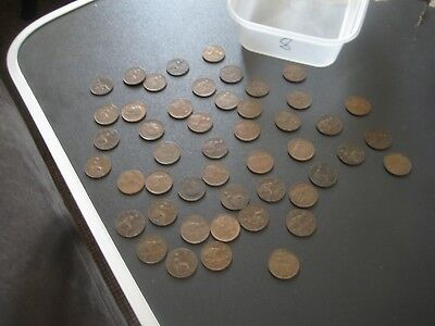 Vintage Mixed lot of Farthings George VI 1914 - 1936 Circulated & Uncleaned