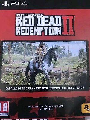 DLC Excl.Red Dead Redemption 2 Ps4 caballo de guerra y kit super.ENVÍO INMEDIATO