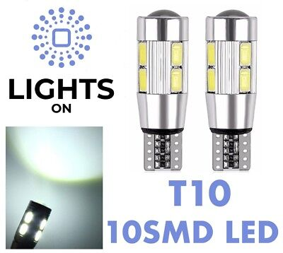 SIDE LIGHT T10 Car Bulbs LED Error Free CANBUS W5W 10 SMD XENON HID WHITE