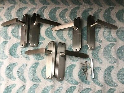 3 pairs of Reproduction Art Deco door handles heritage brass (?)