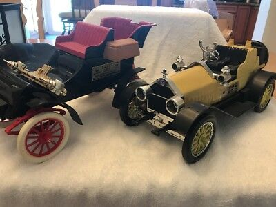 Jim Beam Whisky Decanter Old Car Vintage Collectible - Set Of 2 Stutz Ford