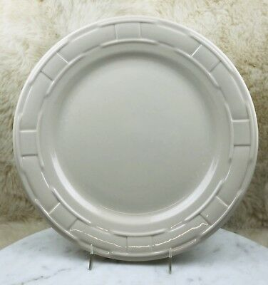 "Longaberger Pottery WOVEN TRADITIONS IVORY Dinner Plate 10"" EUC"