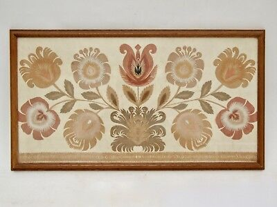 Vintage English Arts & Crafts Paper Cut Collage William Morris Cotswold School